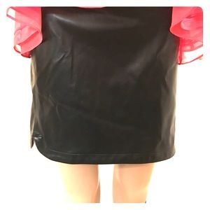 Gap Faux Leather Black Skirt Size 12 NWT